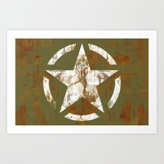 Distressed Star Art Print