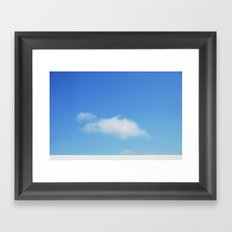 Snow and clouds in Iceland Framed Art Print