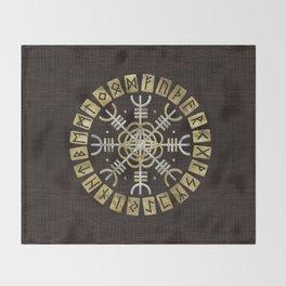 The helm of awe Throw Blanket