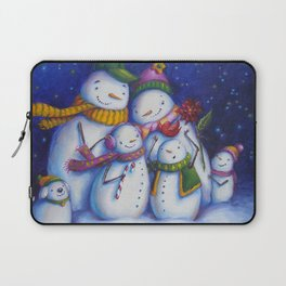 Snow Family Portrait Laptop Sleeve