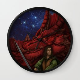 Drow cover Wall Clock