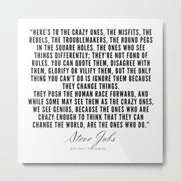41    | Steve Jobs Quotes | 190720 Metal Print