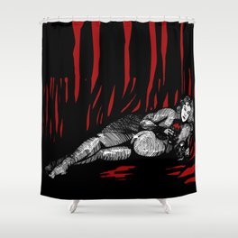 Lilith in red Shower Curtain