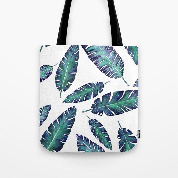 Watercolor garden leaves Tote Bag