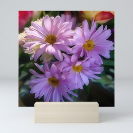 Purple Shasta Daisy Mini Art Print