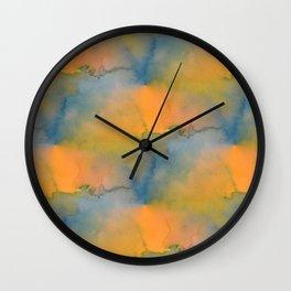 Watercolour Rainbow Wall Clock