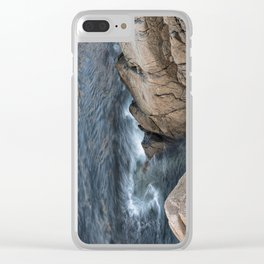 Swirling ocean Clear iPhone Case