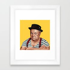 Hipstory -  Winston Churchill Framed Art Print