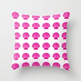 Pink Seashell Throw Pillow