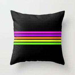 Rainbow Stripes V Throw Pillow