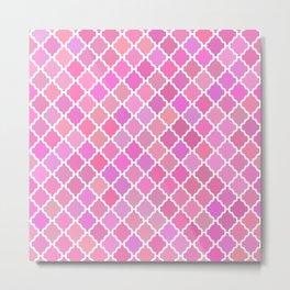 Purple Moroccan Pattern Metal Print