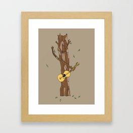 guitar playing tree-- illustration print Framed Art Print