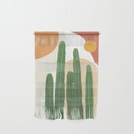 Abstract Cactus I Wall Hanging