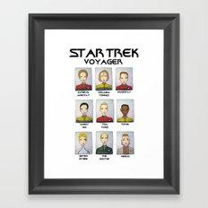 STAR TREK VOYAGER  Framed Art Print