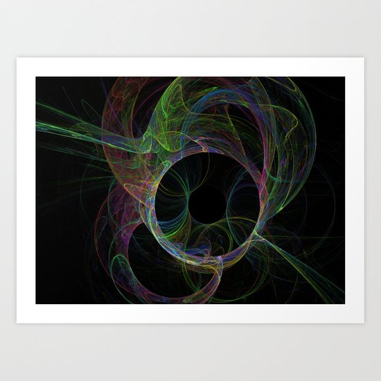 Neon Eclipse Art Print