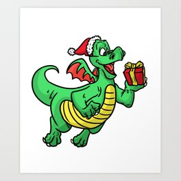 Christmas gift Christkind xmas Yule Noel Art Print