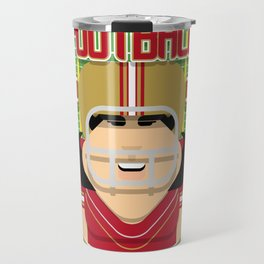 American Football Red and Gold -  Hail-Mary Blitzsacker - Amy version Travel Mug