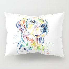 Yellow Lab Colorful Watercolor Painting - Puppy Star Pillow Sham