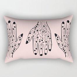 Pomegranate Veins Rectangular Pillow