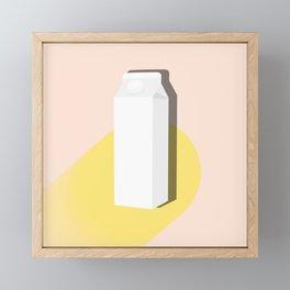 Objects, Milk Carton Framed Mini Art Print