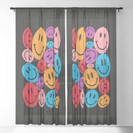 Warped Happiness Sheer Curtain