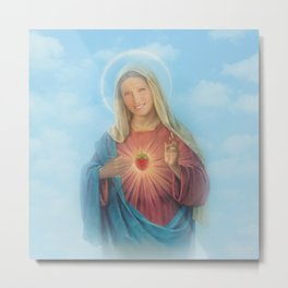 Our Lady Mary Berry Metal Print