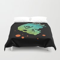 child Duvet Covers featuring Child of Atom by Josh Ln