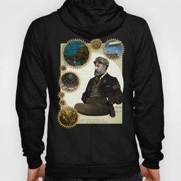 Jules Verne, a Steampunk vision Hoody