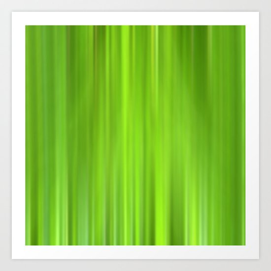 green grass abstract VII Art Print