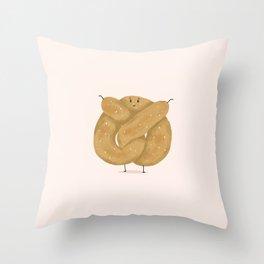 Chubby Pretzel Throw Pillow