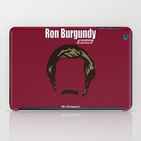 anchorman iPad Cases featuring Ron Burgundy: Anchorman by BC Arts