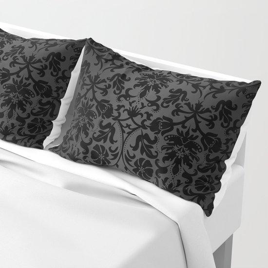 Black Damask Pattern Design by donnasiegrist
