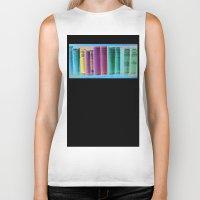 library Biker Tanks featuring Library Wisdom by Jean Ladzinski