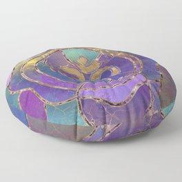 Om Symbol Golden and Paint texture Floor Pillow