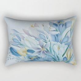 Lovely Spring Crocus Rectangular Pillow
