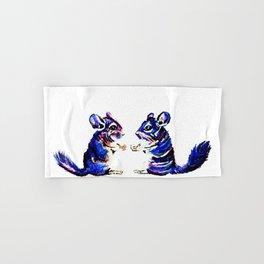 When Acrylic Chinchilla meets Colour Pencil Chinchilla Hand & Bath Towel