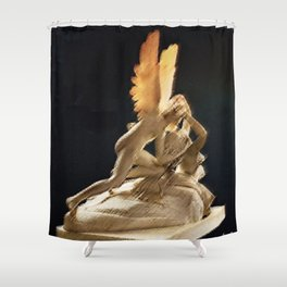 Psyche Revived by Cupid's Kiss Painting by Jéanpaul Ferro Shower Curtain