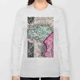 1860 Map, Russian America (Alaska) Long Sleeve T-shirt