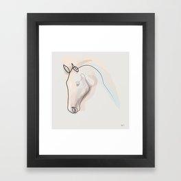 Oneline Horse 70615 Framed Art Print