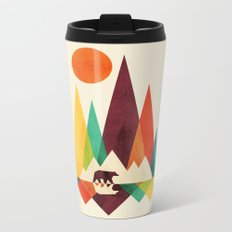 Bear In Whimsical Wild Metal Travel Mug