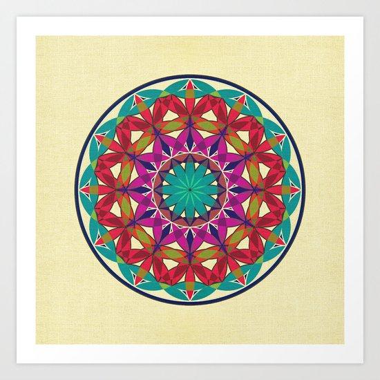 Flower of Life variation 2 Art Print