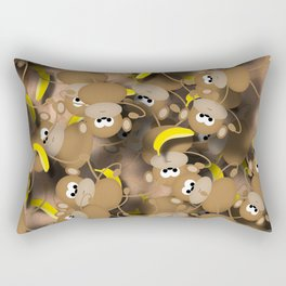 Monkeys And Bananas Rectangular Pillow