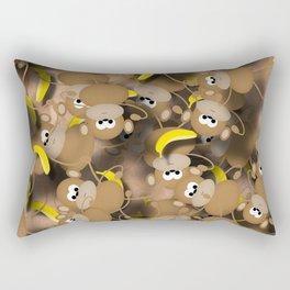 Monkeys And Bananas Rectangular Pillow