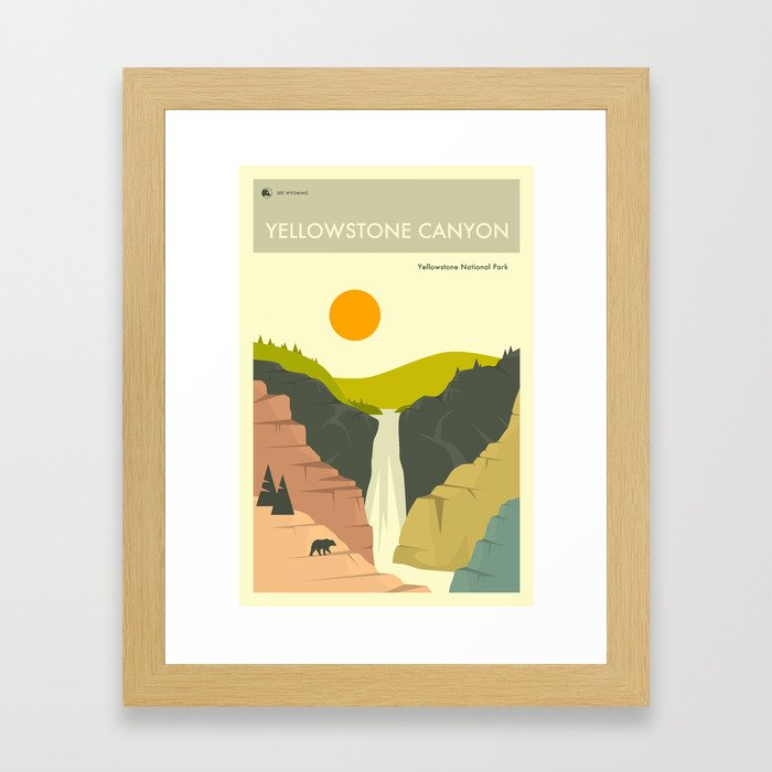 Yellowstone Canyon Gerahmter Kunstdruck