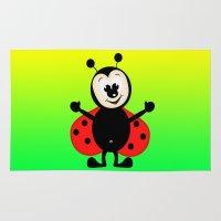 ladybug Area & Throw Rugs featuring Ladybug by Digital-Art