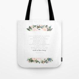 Dwell Richly Tote Bag