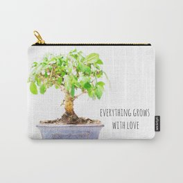 everything grows with love Carry-All Pouch