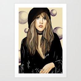 Stevie Nicks Fleet-wood mac Original Art print  poster  wall art  A3 A4 Art Print