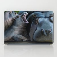 hippo iPad Cases featuring Hippo by Elena Napoli