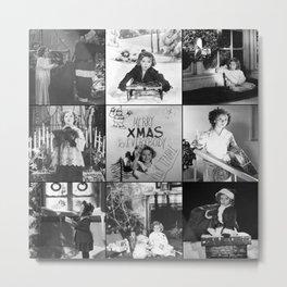 Shirley Temple Christmas Collage Metal Print